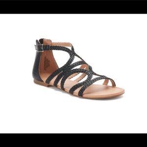 SO women's tigershark sandals BLACK NIB
